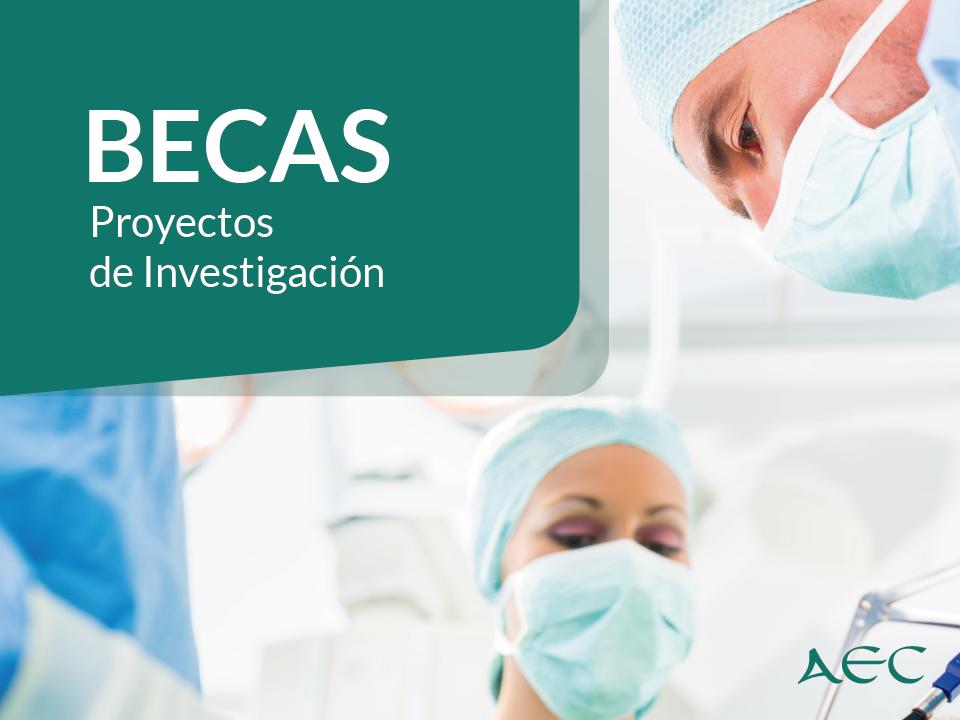 Abierto plazo de solicitud de las becas para los Proyectos de Investigación de la AEC.
