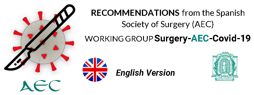 Recommendations from the Spanish Society of Surgery (AEC)